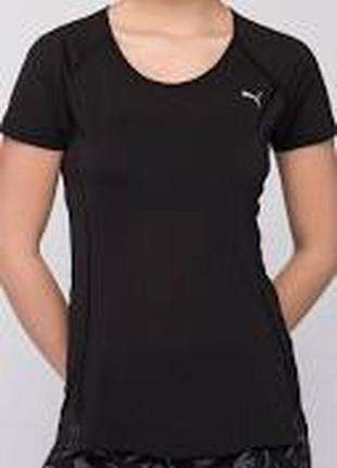 Черная спортивная футболка однотонная puma