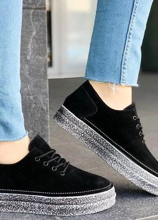 Стильные туфли / натуральная замша