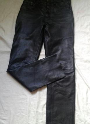 Кожсные  байкерские брюки