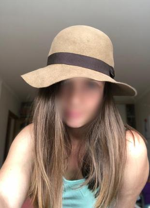 Шляпа италия 100% шерсть