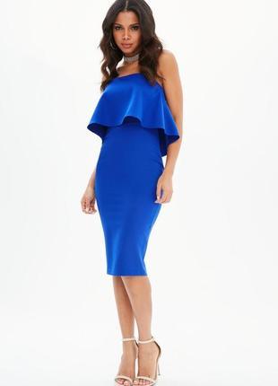 Идеальное миди платье с воланом