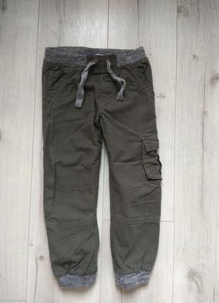 Котонновые штаны джинсы джогеры, 4-5 лет