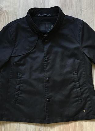 Куртка джинсовая пиджак с укороченным рукавом жакет