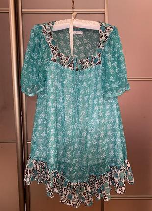 Платье рукава фонарики