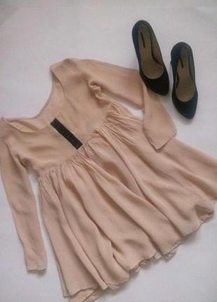 Нюдовая блуза от h&m