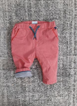 Штанишки на подкладке 3-6мес.для мальчика