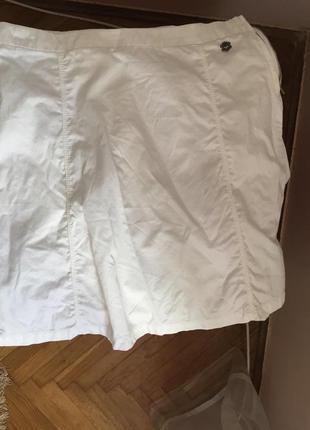 Летняя белая хлопковая юбка