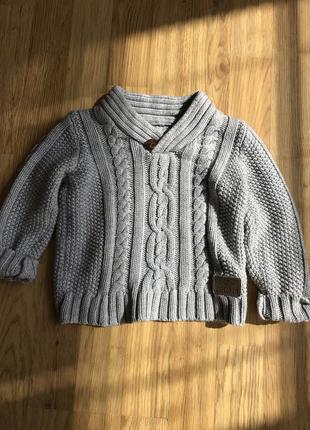 Rebel детский вязаный свитер 1.5 -2 годика