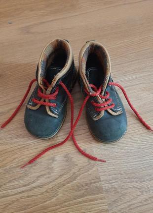 Кожаные ботинки для мальчика 22р