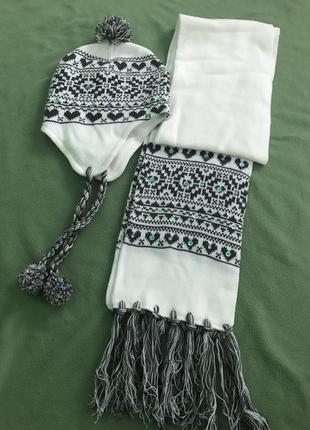 Шапка и шарф набор