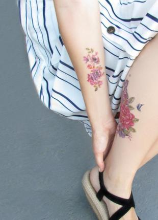 Флеш тату временные татуировки на тело