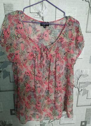 Шелковая блуза warehouse