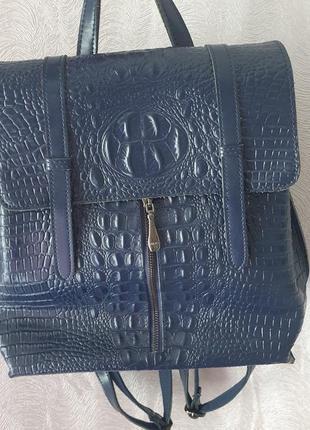 Кожаный рюкзак натуральна кожа стильний портфель