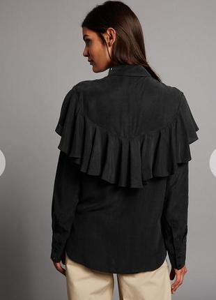 Необычная блуза с красивенной спинкой marks&spencer cos jil sander