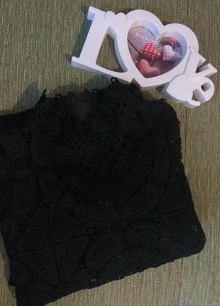 Платье чёрное  кружево