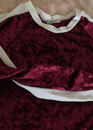 Велюровый костюм юбка свитшот