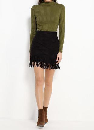Стильная юбка с бахромой
