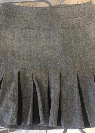 Шерстяная тёплая  юбка шерсть karen millen