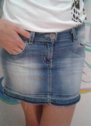 Юбка мини джинсовая от gloria jeans