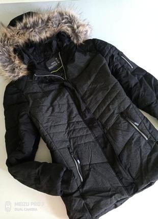Зимняя термокуртка с индикатором температуры cecil.