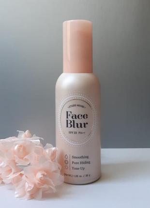 Праймер для лица с эффектом фотошопа etude house face blur spf33 pa++ база под макияж