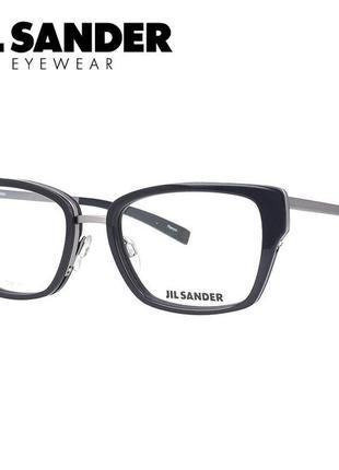 Новая титановая оправа jil sander оригинал премиум очки графит жиль зандер