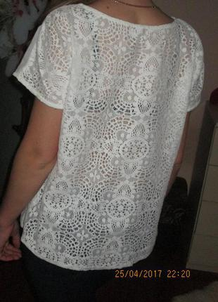 Шикарная блуза с кружевной спинкой