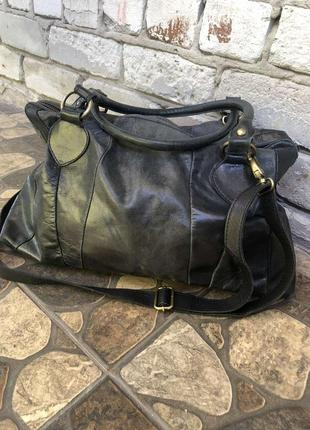Кожаная сумка manfield
