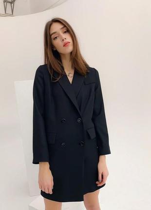 Удлинённый пиджак платье осень
