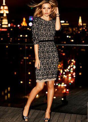 Новое роскошное кружевное платье по фигуре с элегантным вырезом на спинке /вискоза