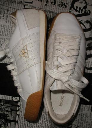 Белые кожаные кроссовки le cog sportif для мальчика на 36р