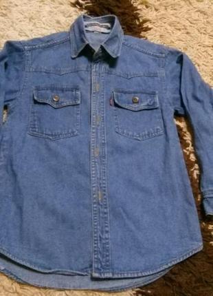 Джинсовая рубашка на 7-8-9 лет