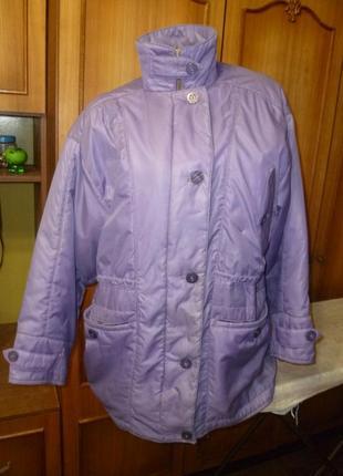 Винтажная болоньевая теплая куртка/курточка,осень-зима-весна,свободная,длинная,ссср