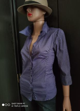 🔥🔥🔥 распродажа рубашка в полоску офис/деловой/кэжуал стиль рукава три четверти