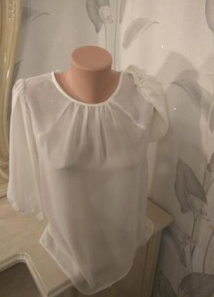 Шифоновая блуза, рубашка аtmosphere р.xs-s-m 40-42-44 испания, новая