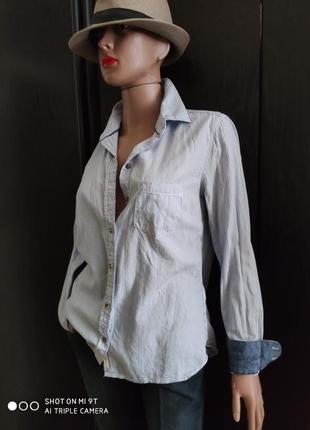 🔥🔥🔥 распродажа. стильная рубашка в полоску офис кэжуал деловой стиль котон