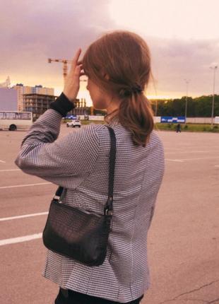 Сумка сумочка багет винтажная с ручкой черная стильная новая8 фото