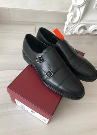 Мужские кожаные туфли neos black by bally. оригинал.