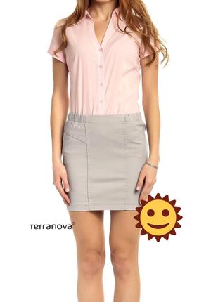 🌞 светло-серая джинсовая мини юбка, отличная базовая вещь
