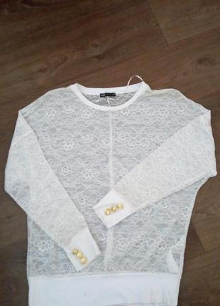 Кофта кружевная.  блуза