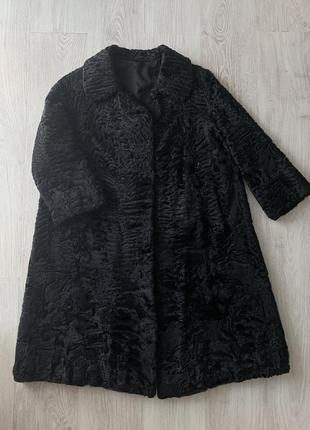 Шуба каракульча каракуль swakara длинная натуральная vintage винтаж