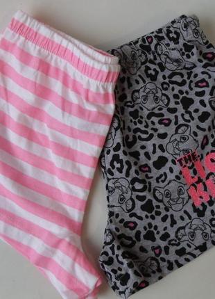 Пижама набор пижамные шорты 4-5 лет, 110 см primark