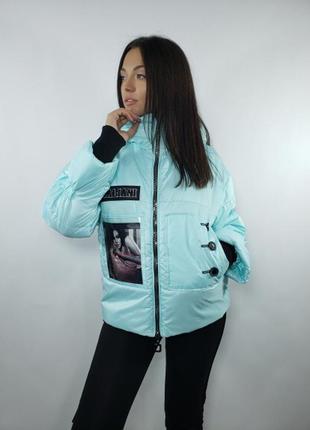 Куртка необычная фоторисунок 1 цветов все размеры