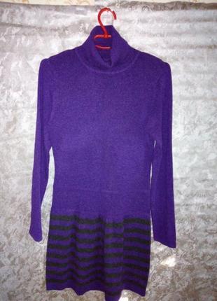 Кашемировое платье туника тёплое