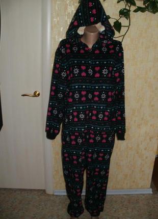 Тёплый милый человечек  этно кигуруми слип человечек халат костюм пижама комбинезон