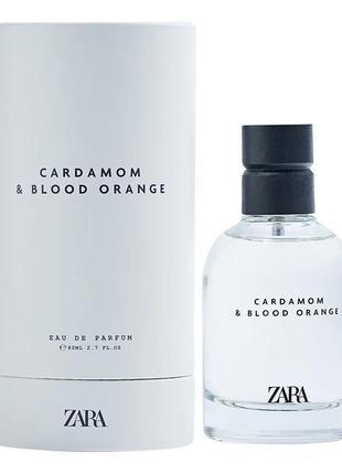 Zara  аромат для мужчин, духи, парфюм cardamom & blood orange 80ml