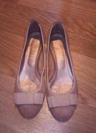 Супер стильные кожаные балетки 36 размер