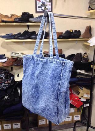 Джинсовая сумка шопер
