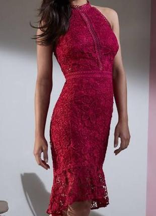 Новое ажурное платье, р 10