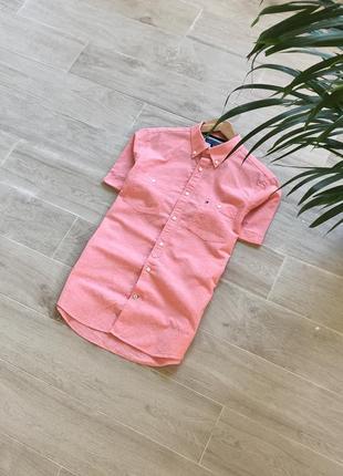 Рубашка на короткий рукав tommy hilfiger тениска гавайка